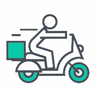 restaurant delivery guy icon